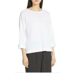 NWT Eileen Fisher Sweater Plus Size 1X White Linen